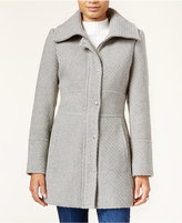 Jessica Simpson Basket-Weave Snap-Front Coat