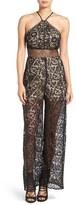 KENDALL + KYLIE Women's Cutout Back Lace Jumpsuit