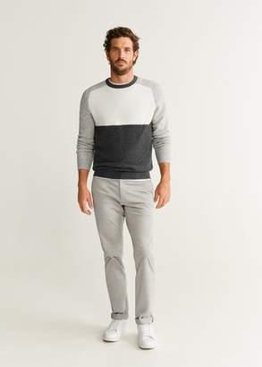 MANGO Textured cotton wool-blend sweater