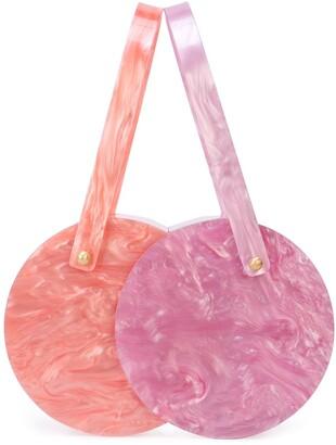 Edie Parker Marble Clutch Bag