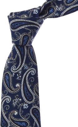 Kiton Navy Silk-Blend Tie