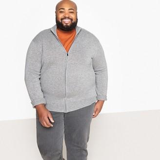 Castaluna Men'S Big & Tall Plus Size Wool Mix Zip-Up Cardigan