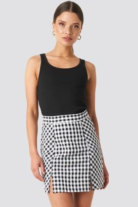 NA-KD Gingham Mini Skirt Multicolor