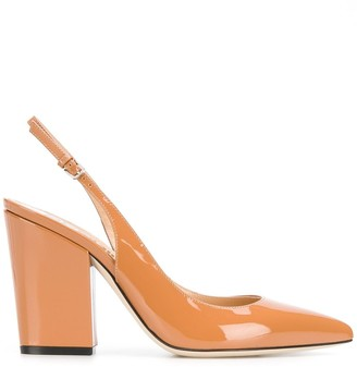 Sergio Rossi sling-back pointed pumps