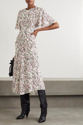 Isabel Marant - Berwick Printed Silk Crepe De Chine Midi Dress - Ecru