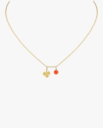 Gaya Clover Coral Necklace