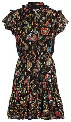 Derek Lam 10 Crosby Edith Ruffled Floral Mini Dress