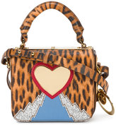 Sophie Hulme leopard heart mini bag - women - Calf Leather/Patent Leather/Metal (Other) - One Size