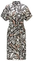 HUGO BOSS Printed Viscose Linen Shirt Dress Holera 10 Patterned