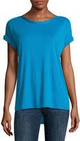 Liz Claiborne Short Sleeve Shine Trim T-Shirt