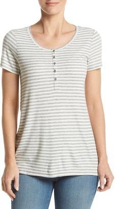 G.H. Bass & Co. Women's Striped Rib Top