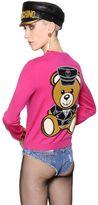Moschino Teddy Bear Intarsia Merino Wool Cardigan