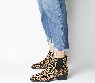 Office Anton Chelsea Boots Leopard Flock
