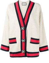 Gucci embellished oversized cardigan - women - Cotton/Viscose - 40