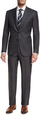 Brioni Essential Virgin Wool Two-Piece Suit, Gray