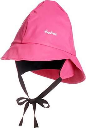 Playshoes Girl's Kids Waterproof Rain with Fleece lining Hat,Large (Size:51cm)