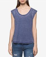 Calvin Klein Jeans Cuffed-Sleeve Top