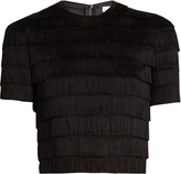 Raey Fringed cropped top