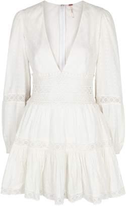 Free People The Delightful White Cotton Mini Dress