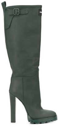 DSQUARED2 Stiletto-Heel Knee-High Rain Boots