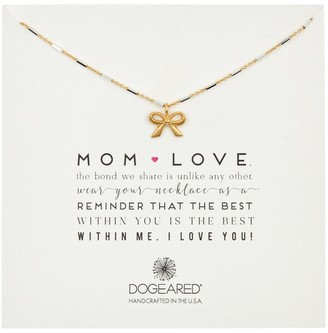 Dogeared Mom Love Classic Bow Pendant Necklace