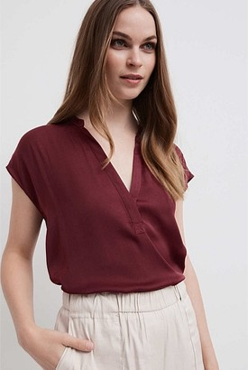 Witchery Split Neck Blouse