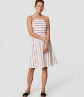 LOFT Beach Striped Strappy Halter Dress