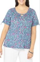 Evans Plus Size Women's Paisley Floral Top