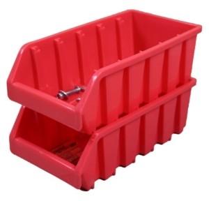 Basicwise Vintiquewise Plastic Storage Stacking Bins, Set of 2