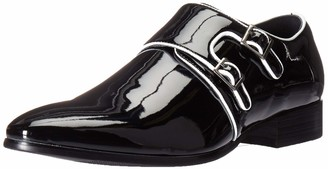 Stacy Adams Men's Valens Plain Toe Double Monk Strap Tuxedo Loafer
