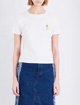Ground Zero Beatrix-embroidered jersey t-shirt