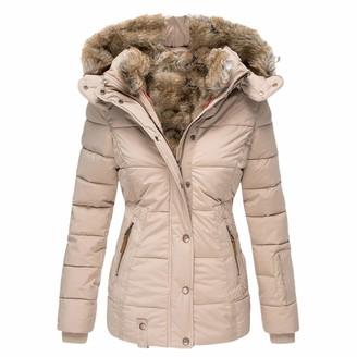 Ac1 Women Jackets Winter Coat Warm Outwear Ladies Long Trench Coat Plus Size Button Lapel Coat Parka Jacket Overcoat
