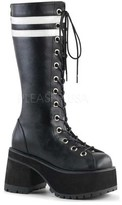 Demonia Men's Ranger 320 Knee-High Platform Lace-Up Boot