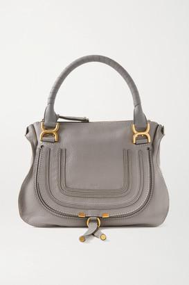 Chloé Marcie Medium Textured-leather Tote - Gray