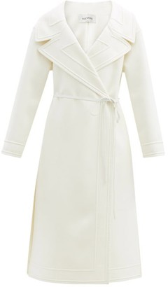 Valentino Double-breasted Belted Wool-blend Coat - Ivory