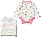 M&Co Dog and stripe pattern bodysuits three pack