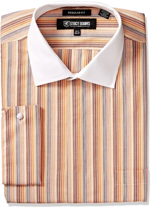 Stacy Adams Men's Big and Tall Big & Tall Multi Stripe Classic Fit Dress Shirt