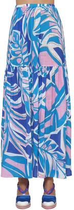 Emilio Pucci Rustic Printed Cotton Skirt