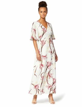 Amazon Brand - TRUTH & FABLE Women's Maxi Chiffon A-Line Dress