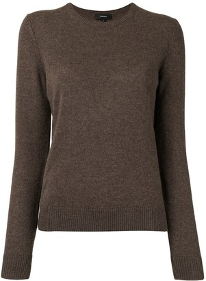 Theory Long-Sleeved Slim Fit Cashmere Sweater