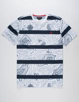 Asphalt Yacht Club Topographic Mens T-Shirt