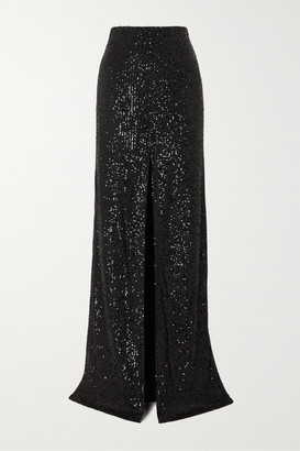 Galvan Modern Love Sequined Tulle Maxi Skirt - Black