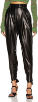 Proenza Schouler Leather Tie Pant in Black | FWRD