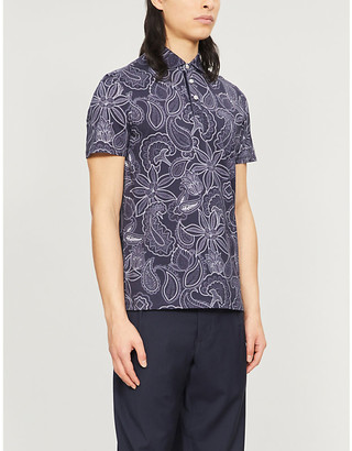 Ted Baker Paisley-print cotton polo shirt