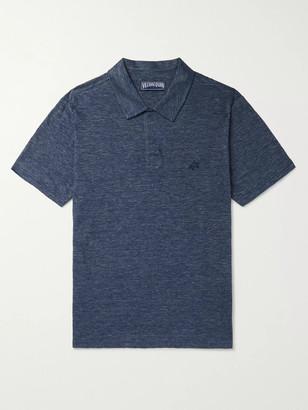 Vilebrequin Pyramid Slub Linen-Jersey Polo Shirt