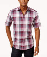 Alfani Men's Classic-Fit Short-Sleeve Plaid Shirt, Only at Macy's