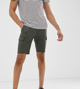 Asos Design DESIGN Tall skinny cargo shorts in khaki