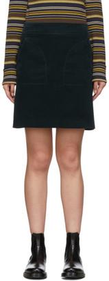 A.P.C. Green Shanya Miniskirt