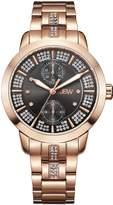 JBW J6341A Lumen Japanese-Quartz Multi-Function Movement Diamond Rose Women's Wrist Watch