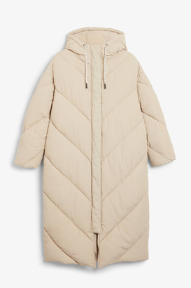 Monki Long puffer coat